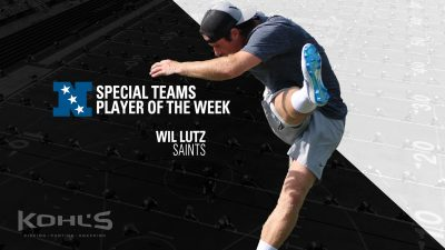 Wil Lutz Special Teams Player Of The Week